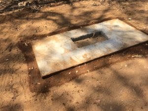 Termite trial trench treatment