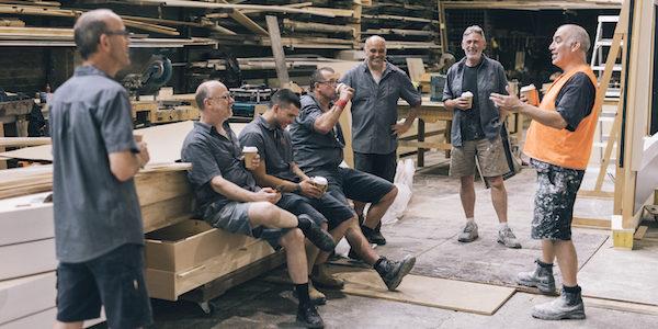 Workers on coffee break