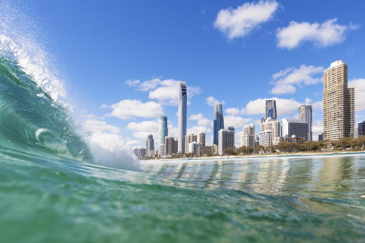 Gold Coast from the surf