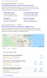 Local pack for pest control gold coast