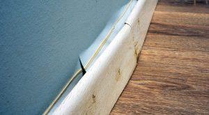 Damaged skirting board
